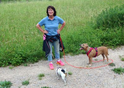 Walking with Dolly and Dixie